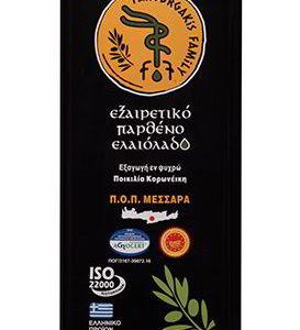 Extra Virgin Olive Oil Tin Can 5L. - Fanourgakis Family Organic PDO